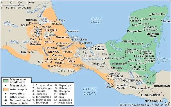 pre-Columbian civilizations Definition, History, Map, Art