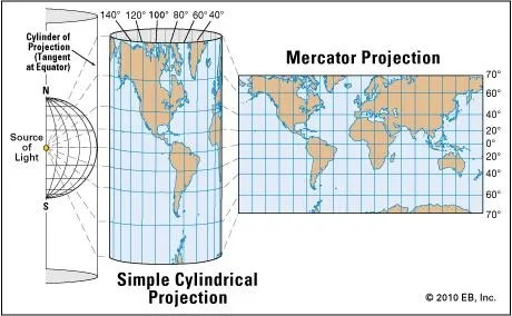 Mercator projection Definition, Uses,  Limitations Britannica