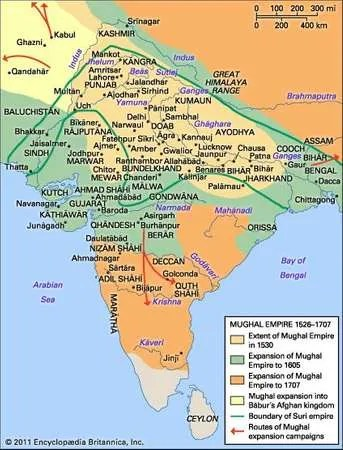 Mughal dynasty History, Map,  Facts Britannica - mughal empire