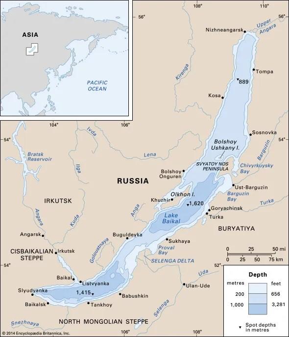 Lake Baikal Location, Depth, Map,  Facts Britannica
