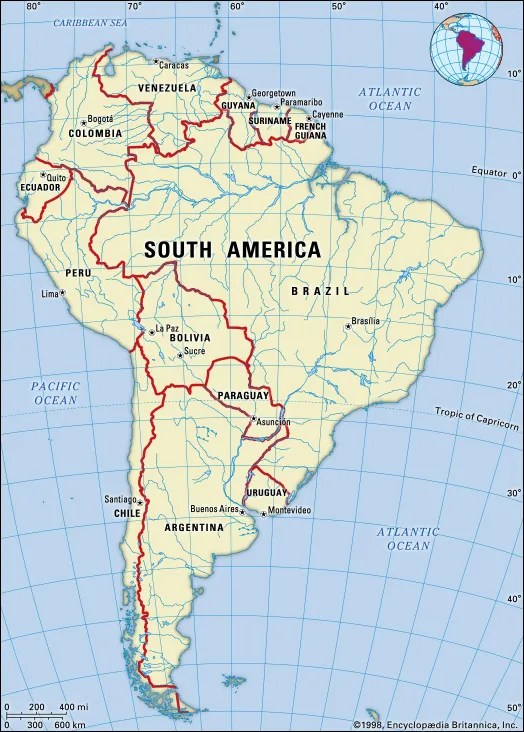 South America Facts, Land, People,  Economy Britannica