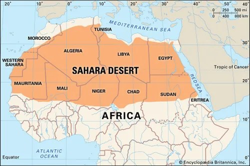 Sahara Map  Facts Britannica