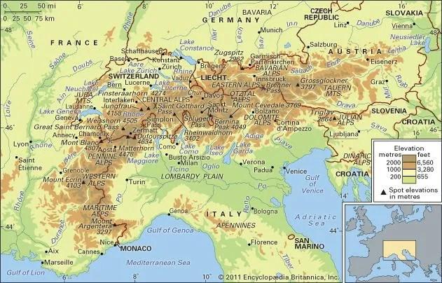 Alps Definition Map Facts Britannicacom