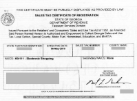 Illinois Sales Tax Exemption Certificate
