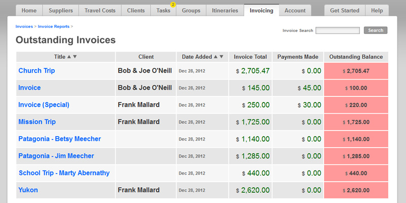 Easy Invoicing Software for Travel Agents BYT Agent