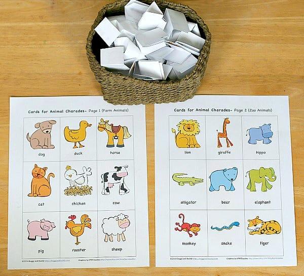 Animal Charades for Kids (Free Printable) - Buggy and Buddy