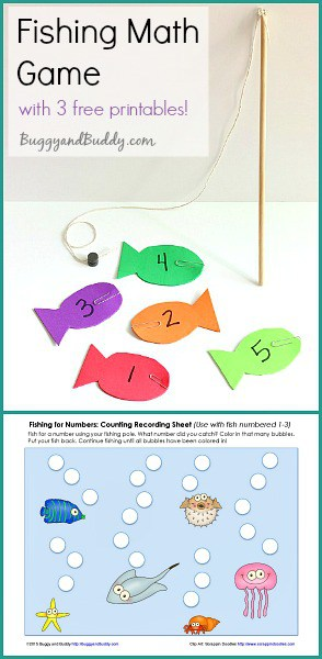 Fishing Math Game with Free Printables - Buggy and Buddy