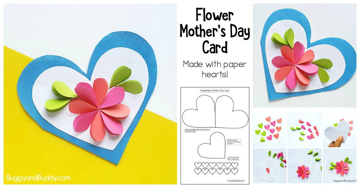 Homemade Heart and Flower Card Craft for Kids - Buggy and Buddy