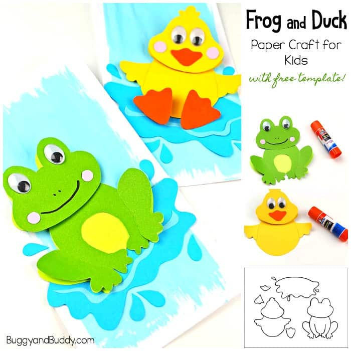Frog Craft and Duck Craft for Kids with Template - Buggy and Buddy