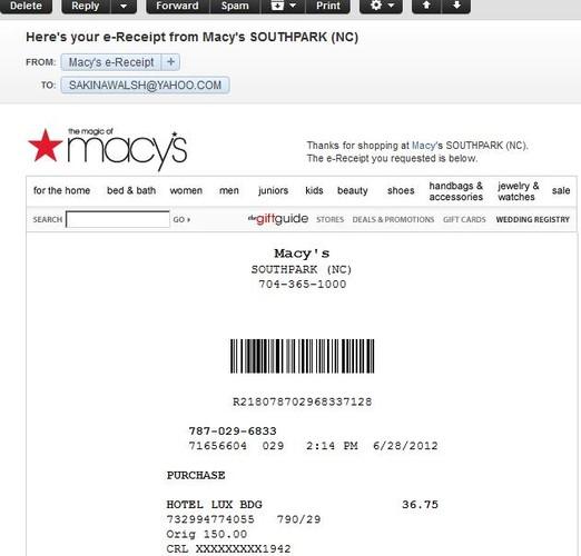 E-Receipts Macy\u0027s Wins Big in Customer Convenience  Data Collection