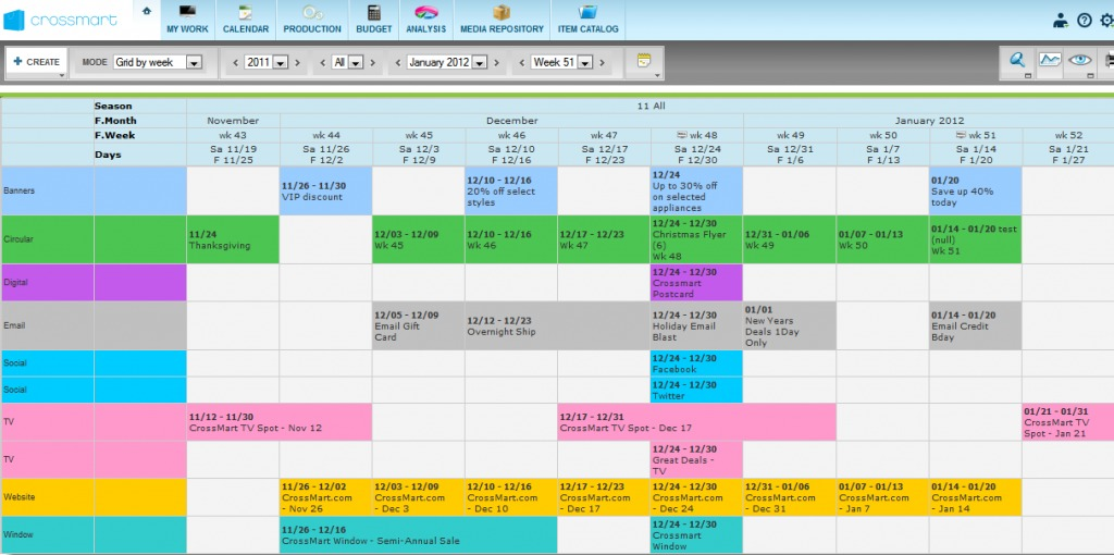 retail schedule template