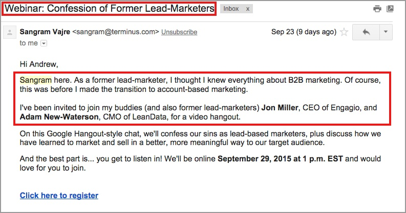 8 B2B Email Marketing Tactics Your Competitors Donu0027t Want You To - email marketing sample