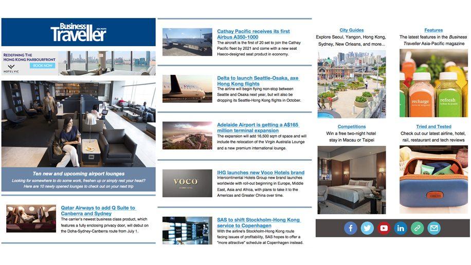 Sign up to the Business Traveller newsletter \u2013 Business Traveller