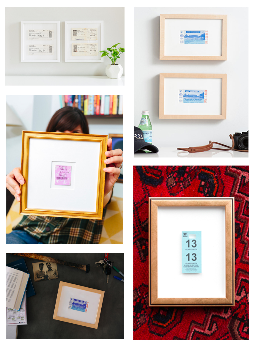 How To Frame Pictures How To Frame A Ticket Inspiration Tutorial Framebridge