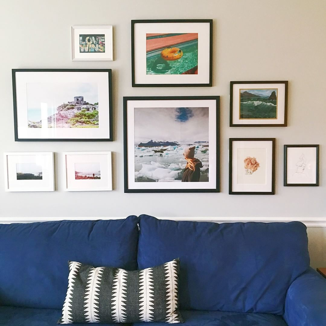 Art Wall How To Choose The Right Frame For Your Wall Color