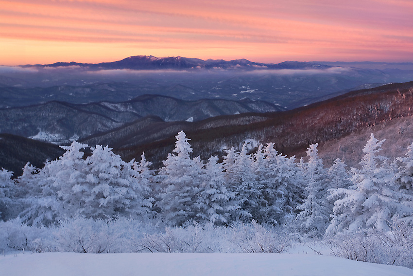 Sunrise after a clearing winter storm in the Roan