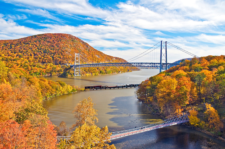 Upstate New York Fall Hd Wallpaper Bear Mountain Bridge In The Fall Phil Haber Photography