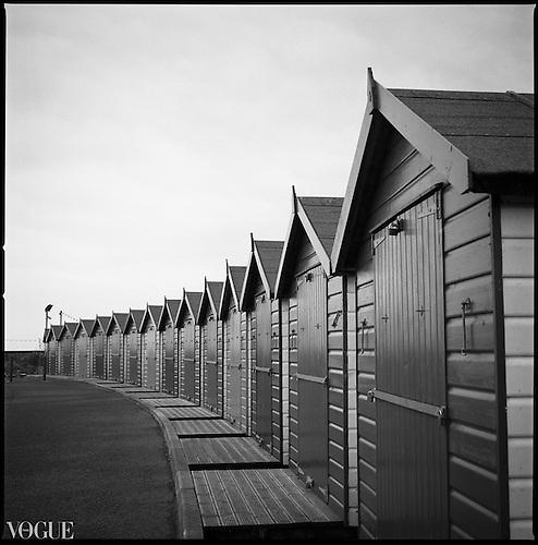 Beach Huts, Dawlish Warren, Devon 2010 |  Black & White Film Photography