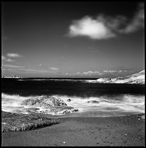 Rocks III, Combe Martin, North Devon | Black and White Infrared Film Photography