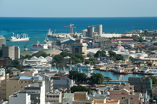 Mauritius View over the city of Port Louis from Fort Adelaide - city of sunrise jobs