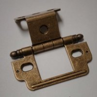 Amerock Full Inset Ball Tip Hinge-Burnished Brass Sold ...