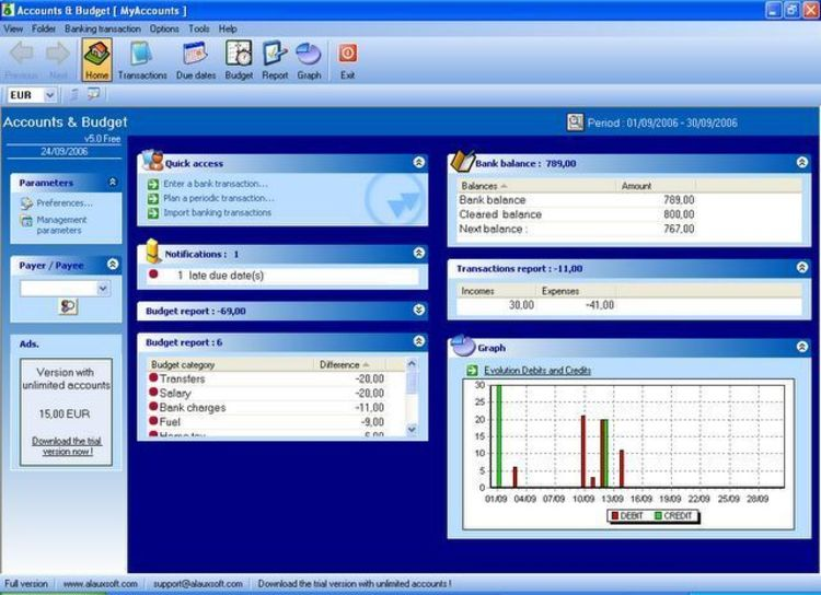 Home Bank Software Freeware Accounting Software