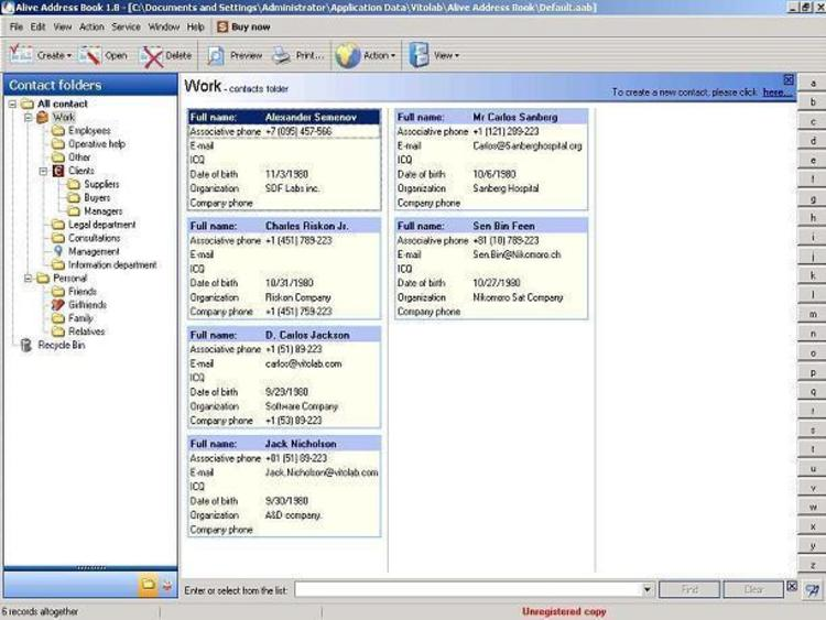 Download Alive Address Book 1919 Build 12 - software for address book