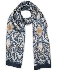 Eton Paisley Silk Scarf Blue hos CareOfCarl.com