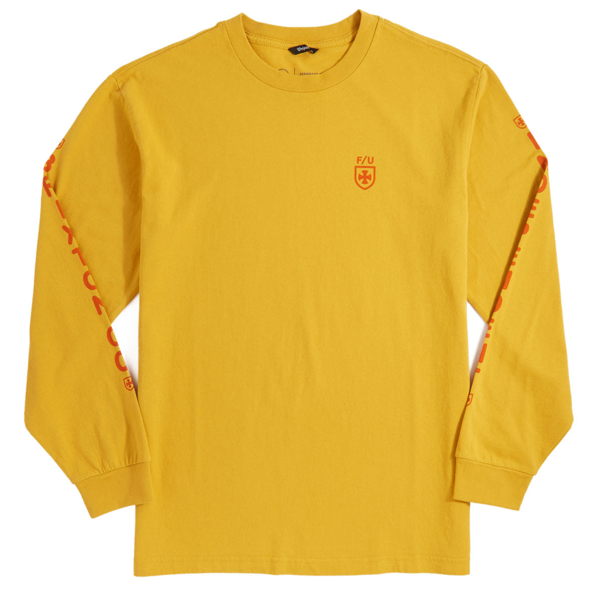 T Shirt Frame Brixton X Independent Frame Long Sleeve T Shirt Yellow