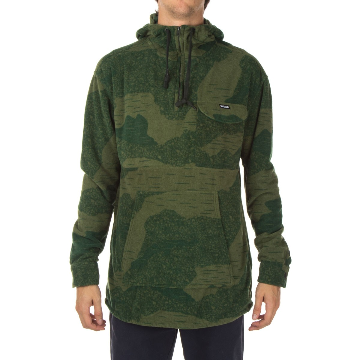 Polar Fleece Bettwäsche Thirty Two Pulaski Printed Polar Fleece Hoodie - Camo