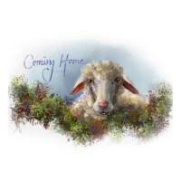 Lost Sheep Coming Home Digital Wall Art Prints