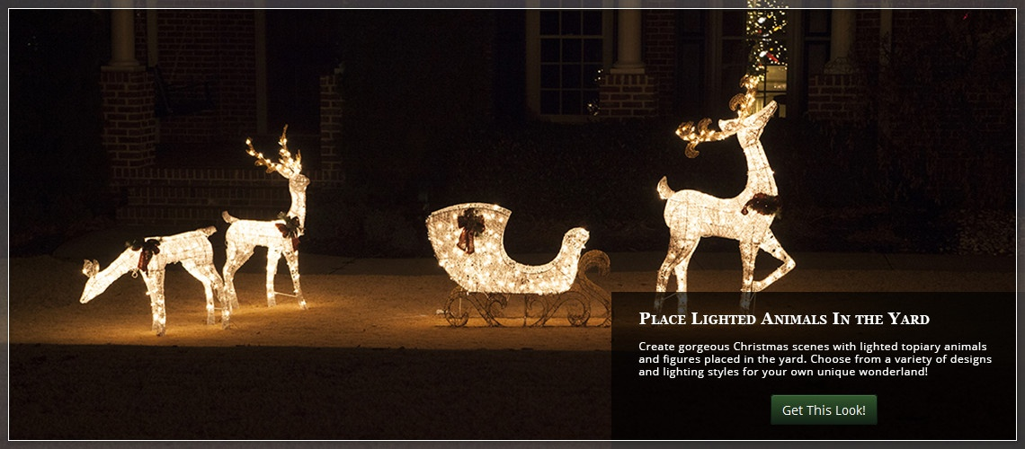 Outdoor Christmas Yard Decorating Ideas - christmas lawn decorations