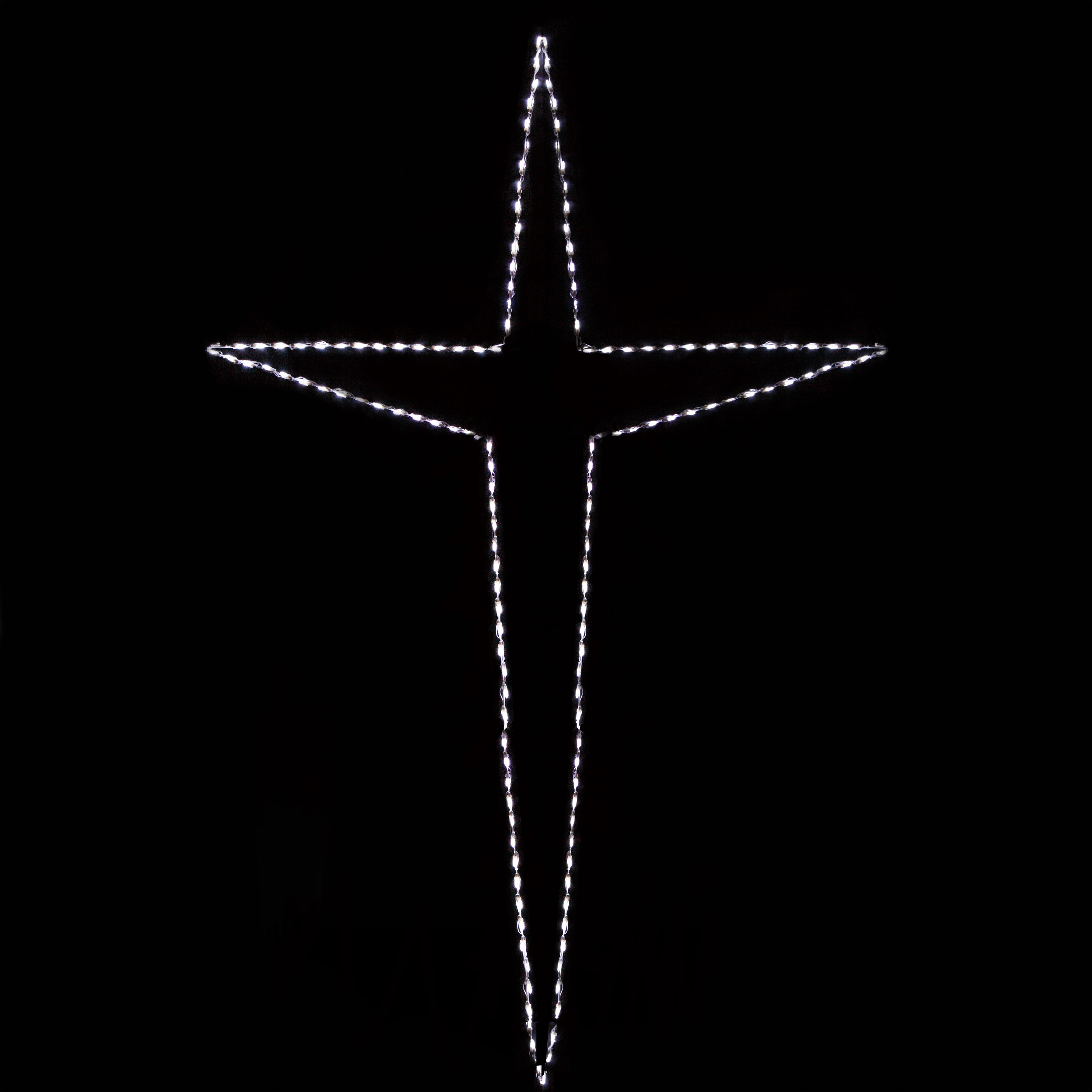 Outdoor String Lights For Trees Snowflakes & Stars - 10' Giant Led Folding Bethlehem Star