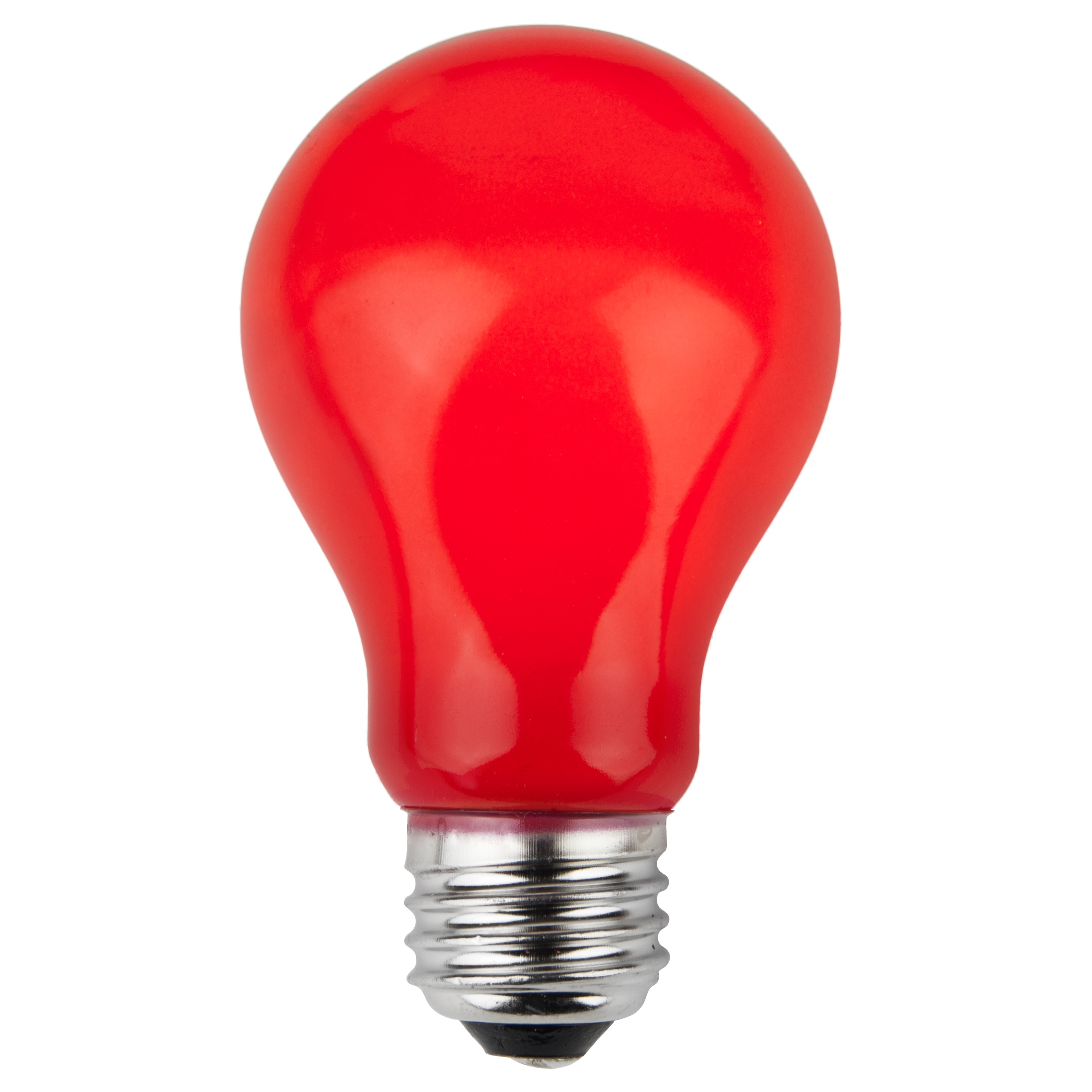 Incandescent Lamp Symbol E26 Party And Sign Bulbs A19 Opaque Red 25 Watt