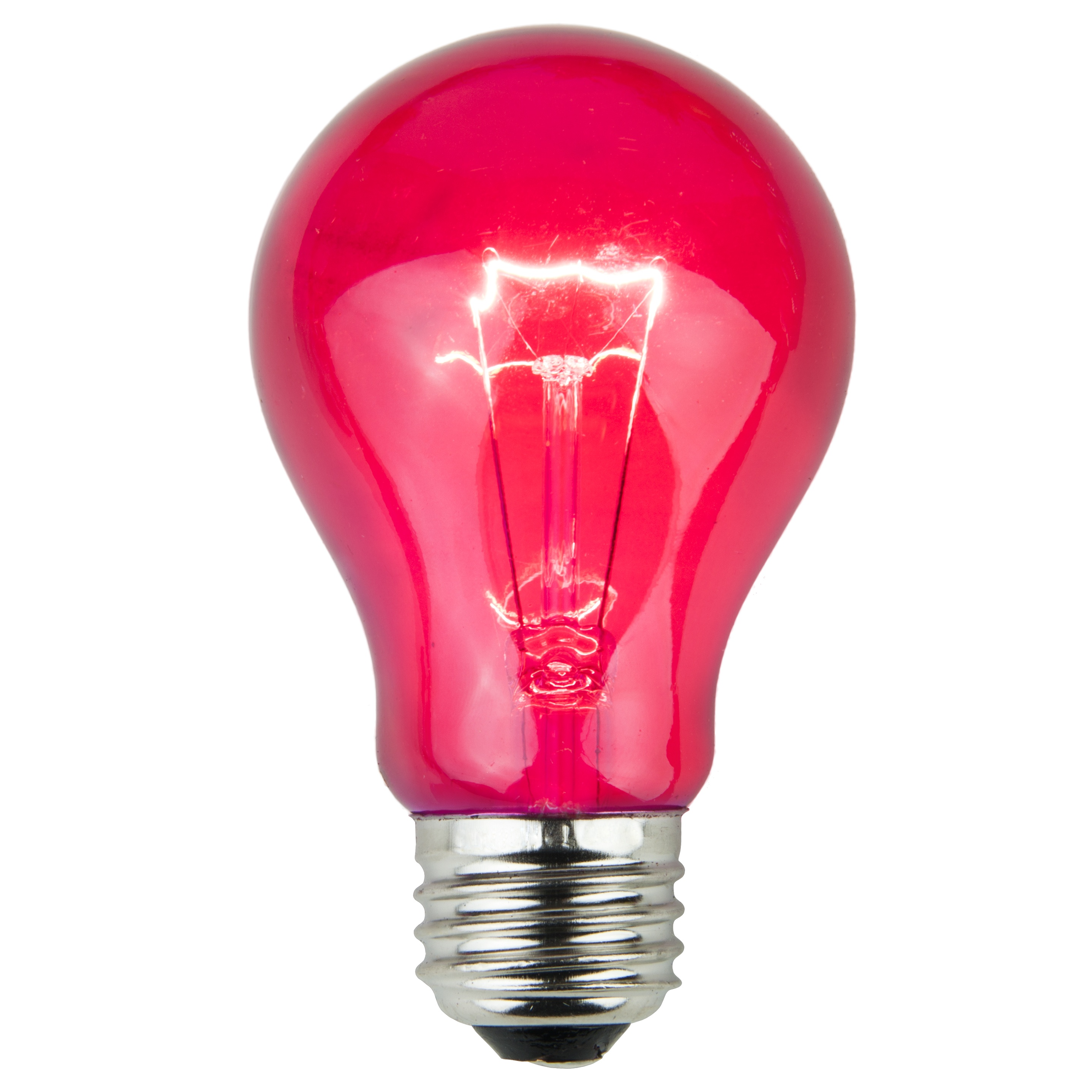 Pink Lamp E26 Party And Sign Bulbs A19 Transparent Pink 25 Watt