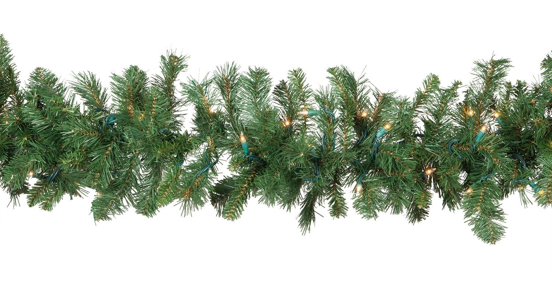Lighted Christmas Garland Cumberland Fir Prelit