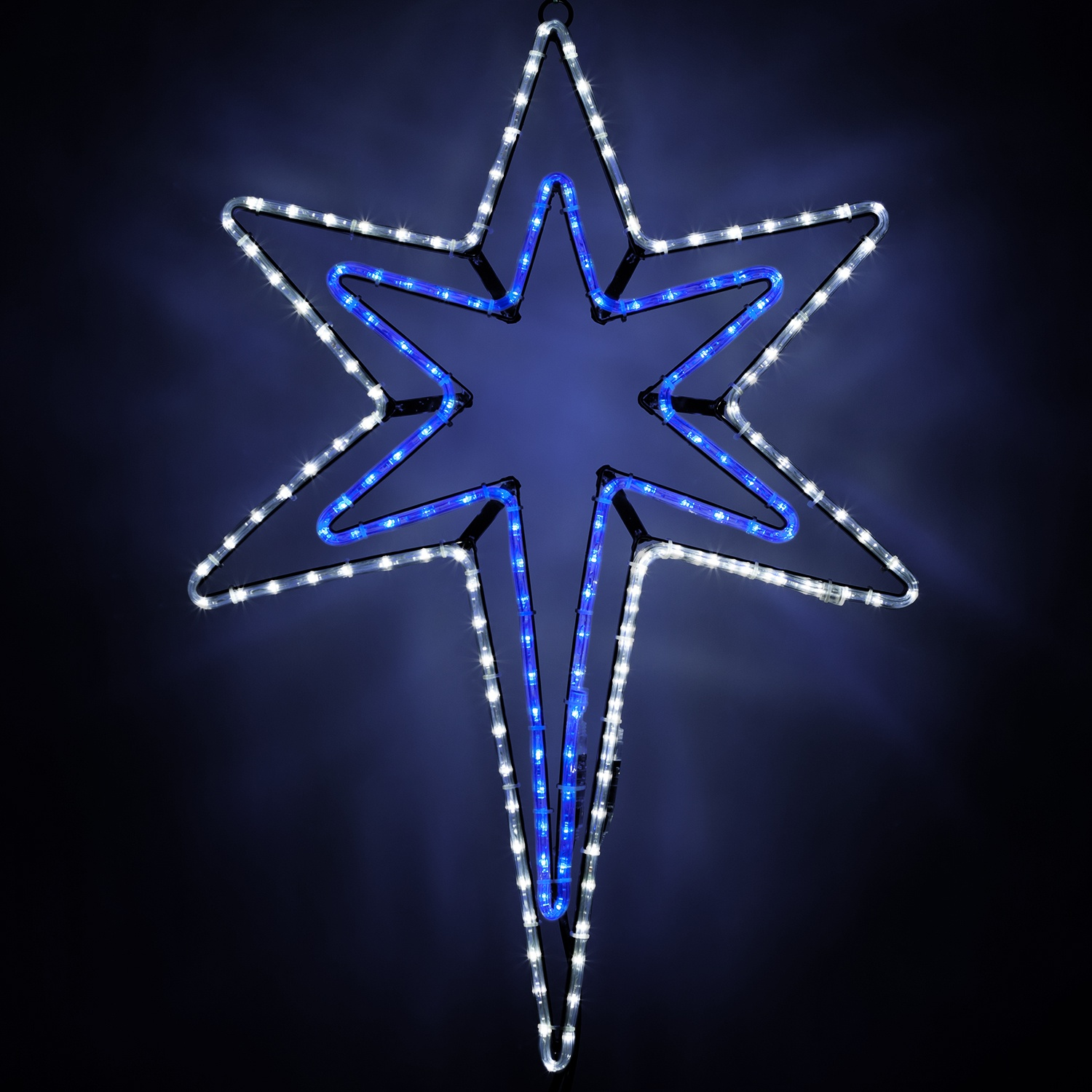 Christmas Star Lights Snowflakes And Stars Led Bethlehem Star With A Blue Center