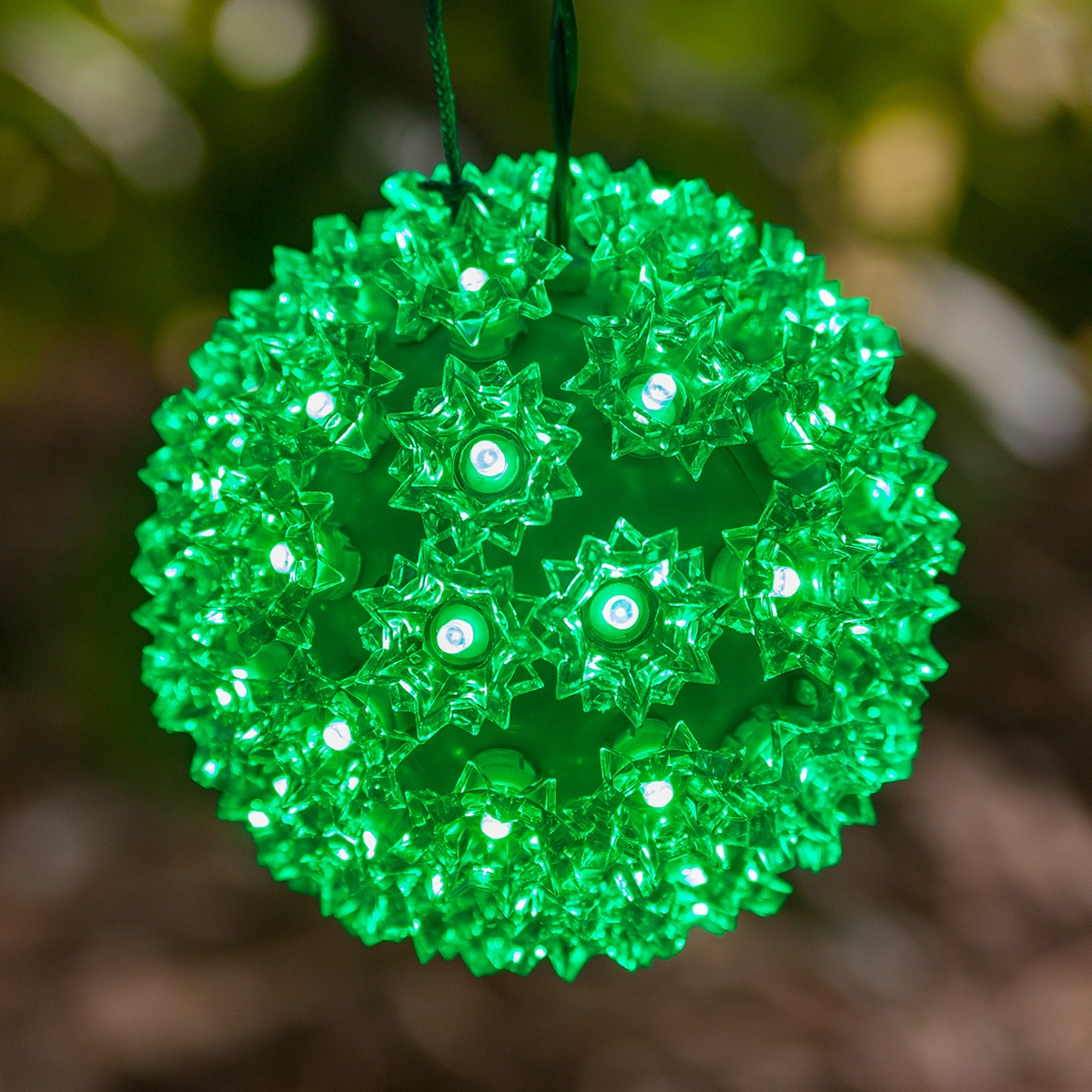 Outdoor String Lights For Trees Green Led Starlight Sphere
