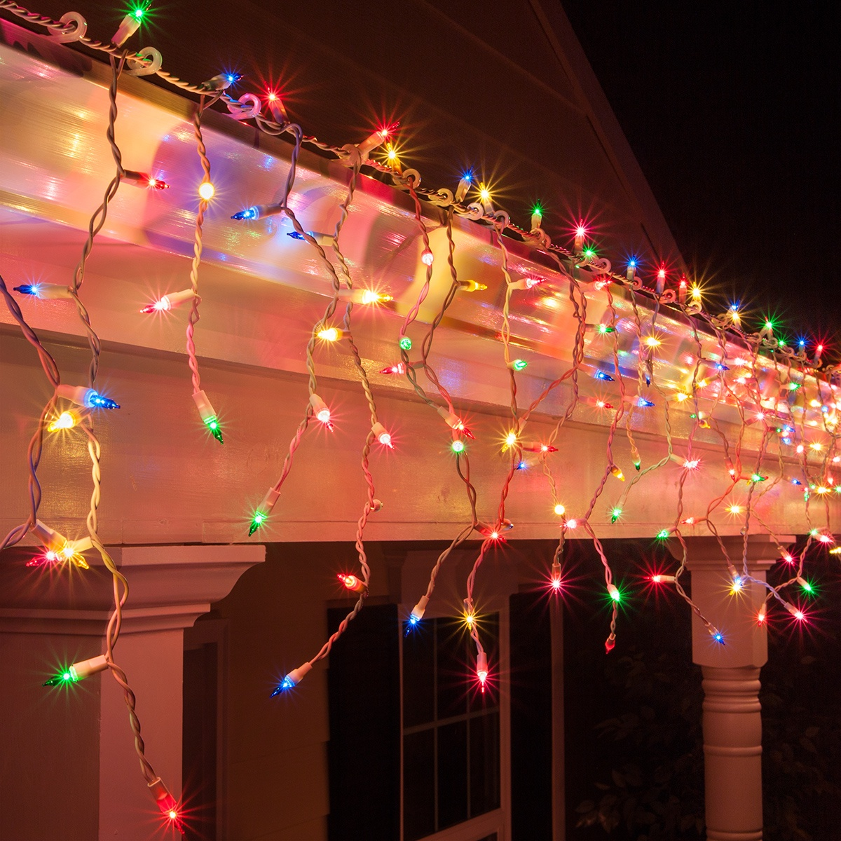 Multicolor Led Strip Christmas Icicle Light - 150 Multi (red, Green, Pink, Blue