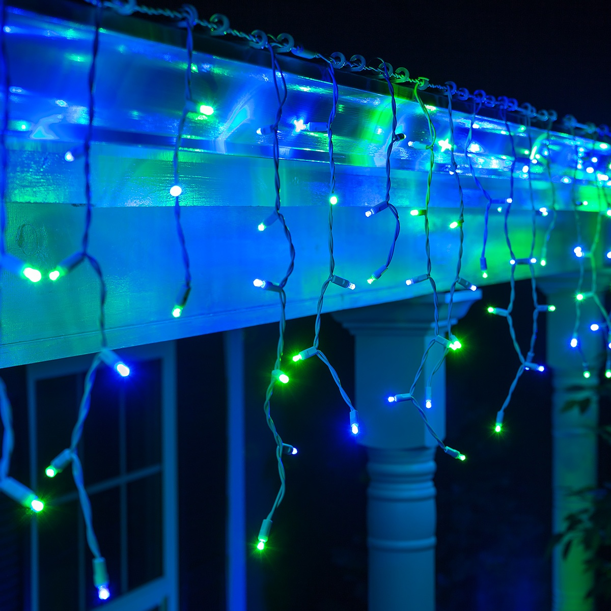 Neon Led Exterieur Led Christmas Lights - 70 5mm Blue, Green Led Icicle Lights