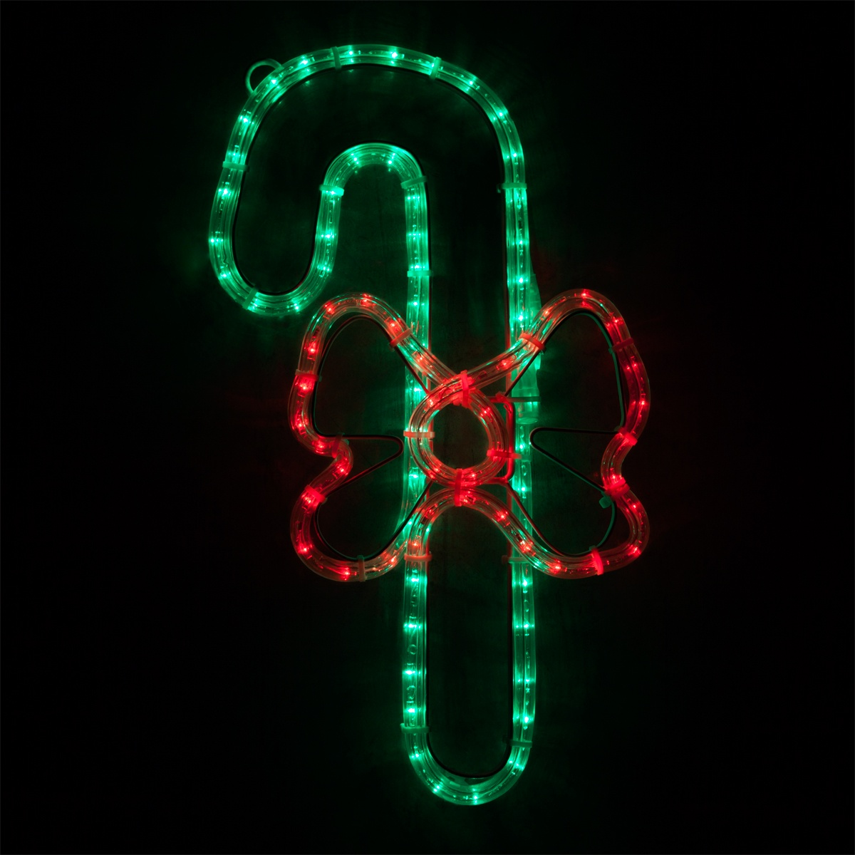 "Outdoor String Lights For Trees Outdoor Decoration - 20"" Led Candy Cane With A Bow, Red"