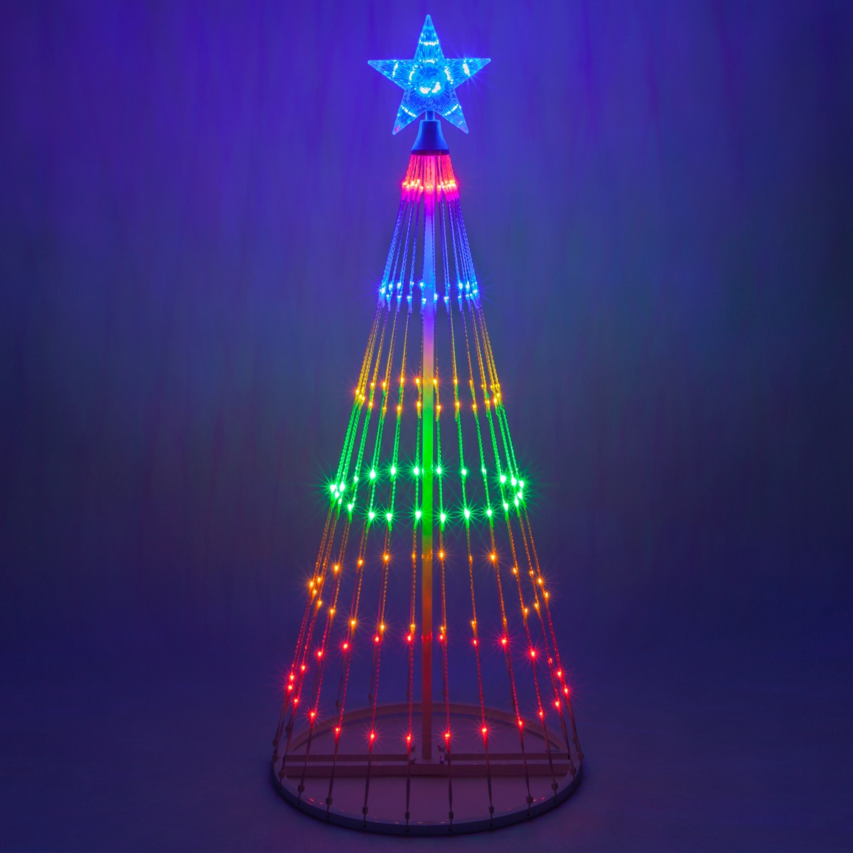 Lampjes Kerstverlichting Multicolor Led Animated Outdoor Lightshow Tree