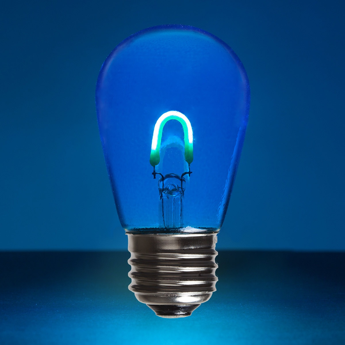 Led Edison Bulb S14 Blue Glass Flexfilament Tm Led Edison Bulb Transparent