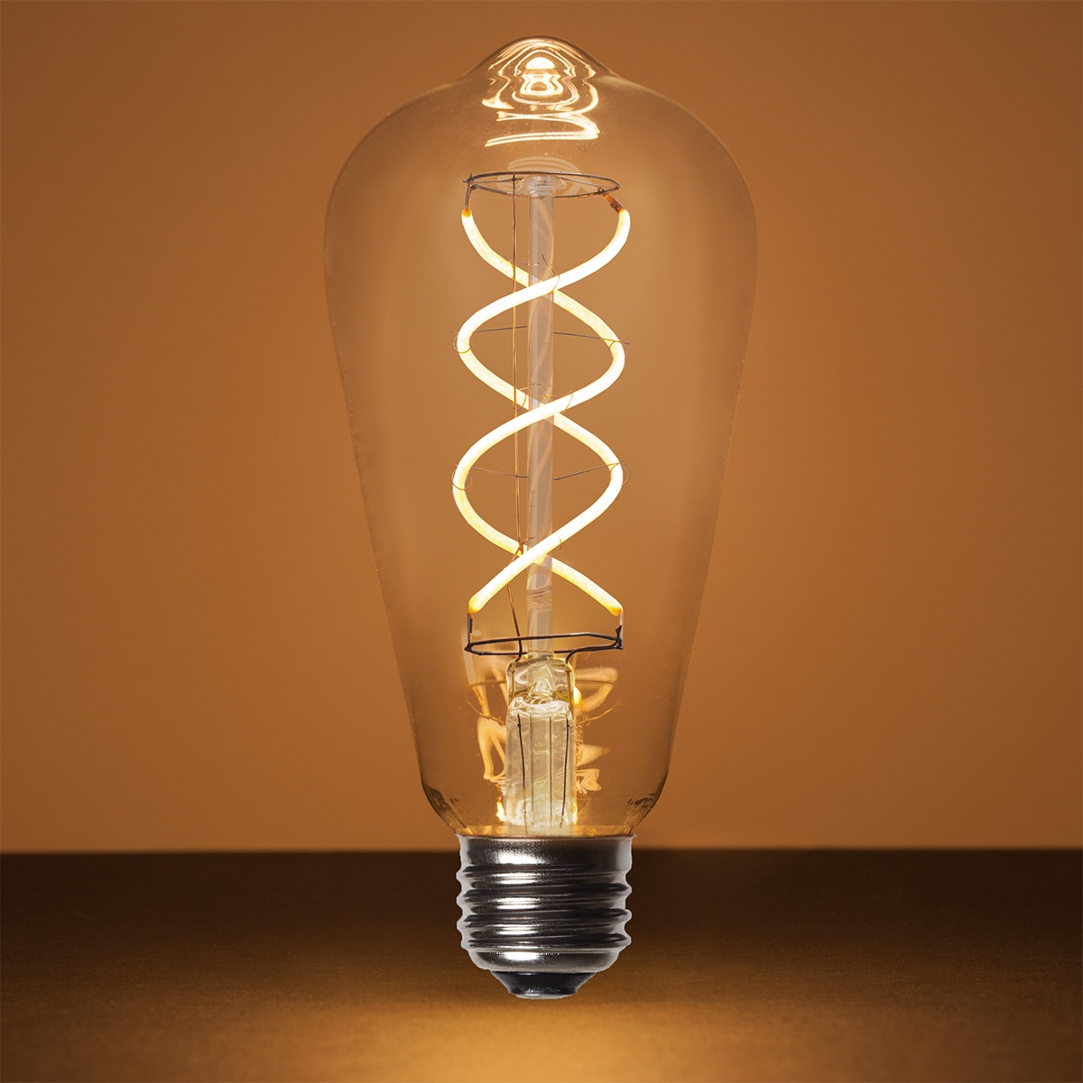Led Edison Bulb St64 5w Warm White Glass Flexfilament Tm Led Edison Bulb