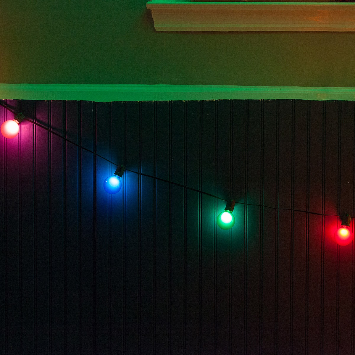 Outdoor Party Lights 15 Outdoor Patio String With 15 G50 Multicolor Satin Partylights