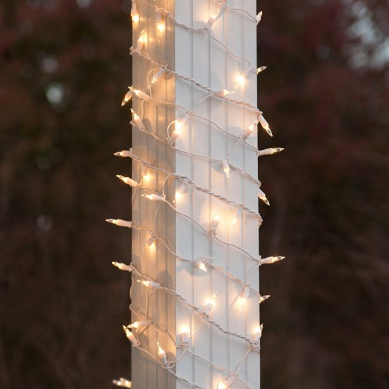 "Outdoor String Lights For Trees Christmas Net Lights - 6"" X 15' Column Wrap Lights - 150"