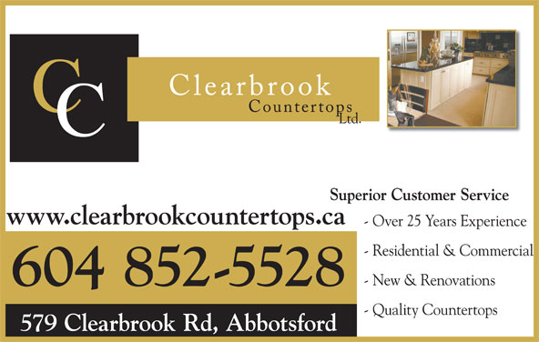 Clearbrook Countertops Ltd Opening Hours 579