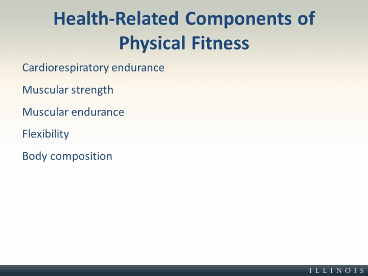 Health-Related Components of Physical Fitness - health components