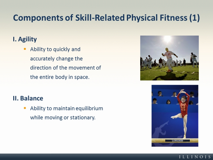 Components of Skill-Related Physical Fitness (1) - components of fitness