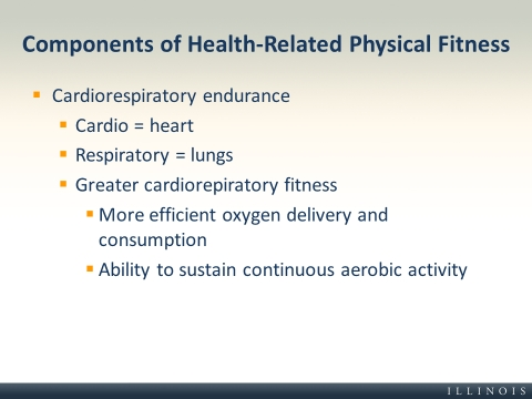 Slides and Notes for Chapter 4 - components of fitness